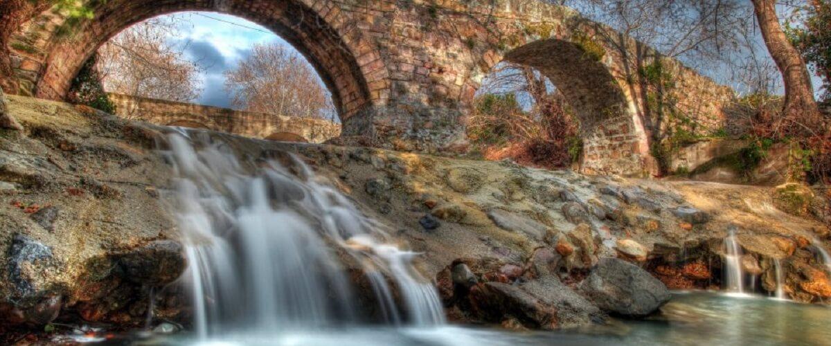 Lesvos-Stone bridge in Parakoila
